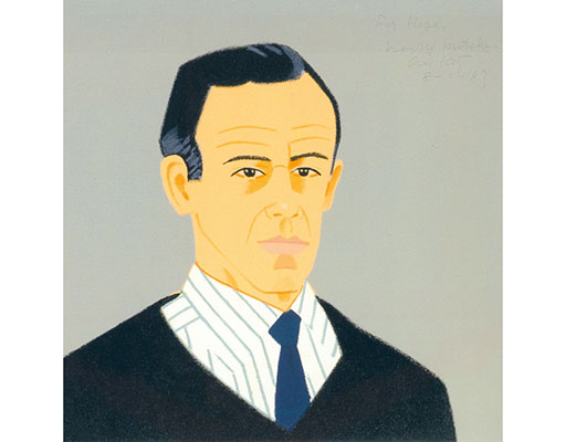 "Buy the original print ""Alex"" (small) by Alex Katz (Painter, Pop Art) at our gallery."