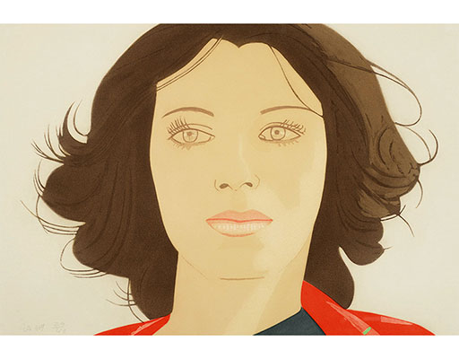 "Buy the original print ""Ann Lauterbach"" (small) by Alex Katz (Painter, Pop Art) at our gallery."
