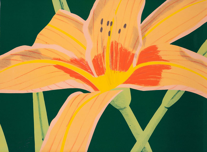 "Buy the original ink print ""Day Lily 1"" by Alex Katz (Painter, Pop Art) at our gallery."