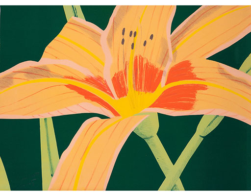 "Buy the original print ""Day Lily 1"" (large) by Alex Katz (Painter, Pop Art) at our gallery."