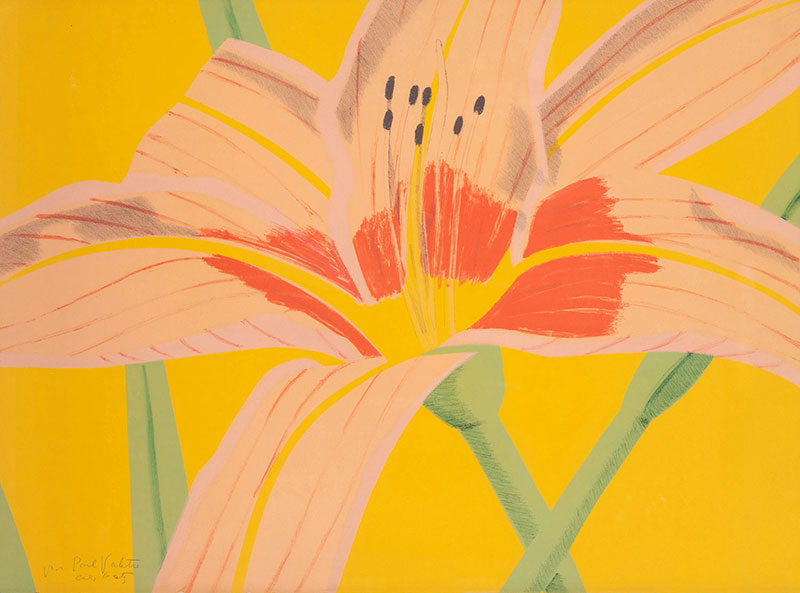 """Buy the original ink print """"Day Lily 2"""" by Alex Katz (Painter, Pop Art) at our gallery."""