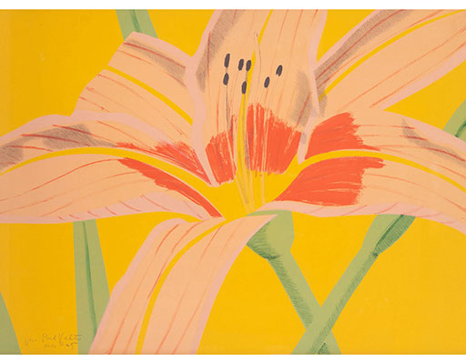 "Buy the original print ""Day Lily 2"" (large) by Alex Katz (Painter, Pop Art) at our gallery."