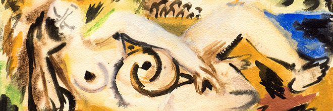 Buy original art of the German painter Ernst Wilhelm Nay (Expressionism) at our gallery.