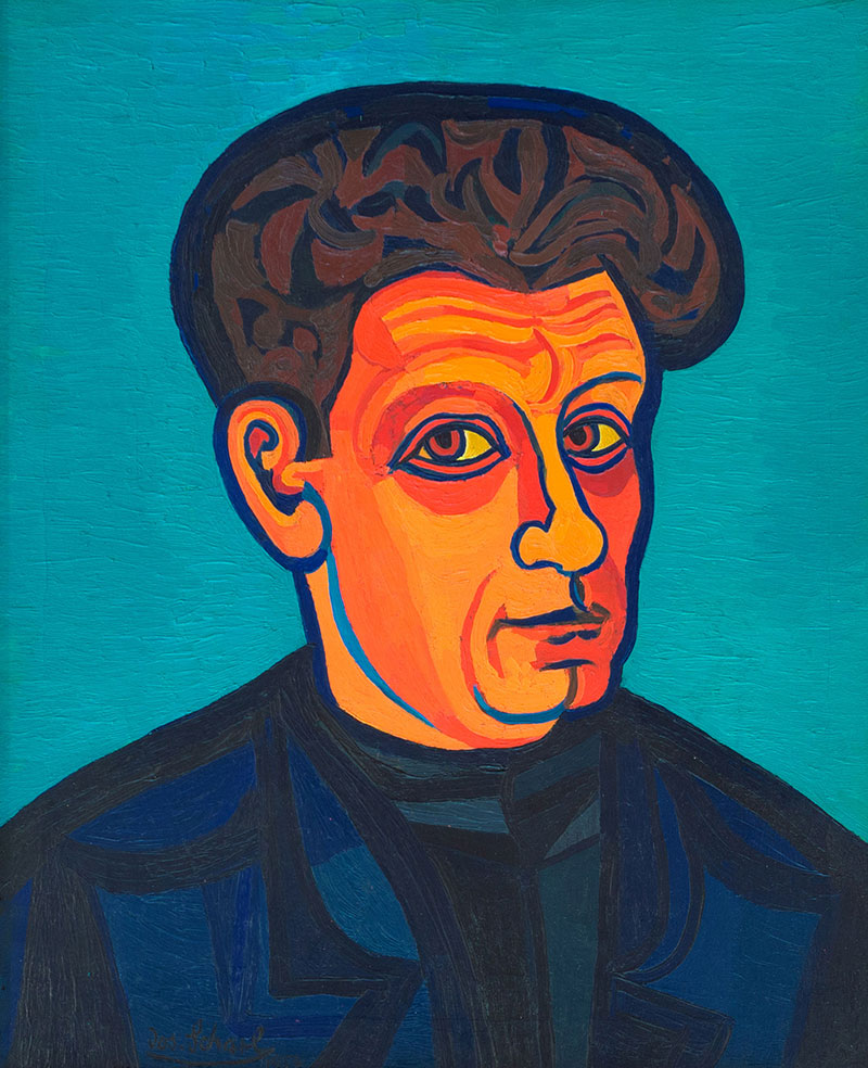 "Buy the original oil painting ""Self portrait"" by Josef Scharl (Painter, Expressionism) at our gallery."
