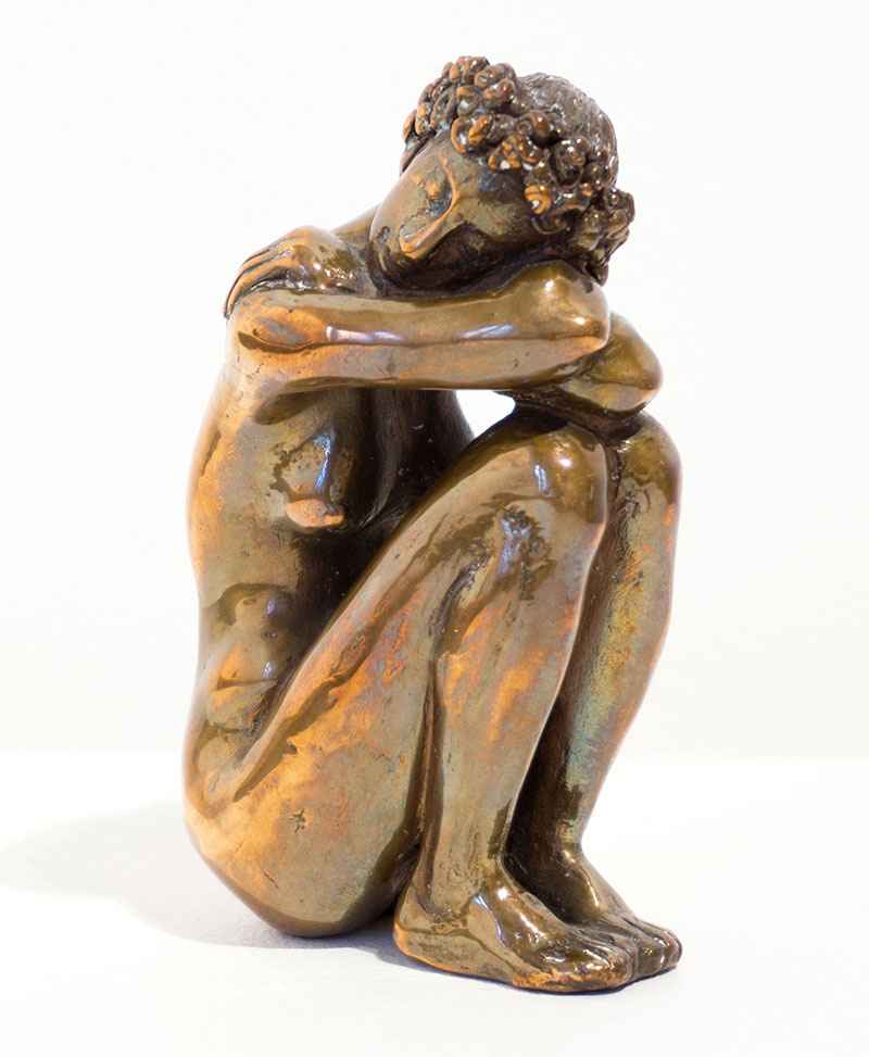 """Buy the original sculpture """"Dreaming girl"""" by Karl-Heinz Krause (Sculptor) at our gallery."""