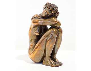 """Buy the original sculpture """"Dreaming girl"""" (small) by Karl-Heinz Krause (Sculptor) at our gallery."""