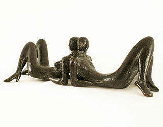 "Buy the original sculpture ""Little lying couple"" (small) by Karl-Heinz Krause (Sculptor) at our gallery."