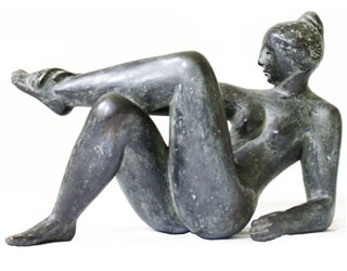 "Buy the original sculpture ""Ozeanide"" (small) by Karl-Heinz Krause (Sculptor) at our gallery."