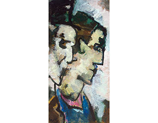 "Buy the original oil painting ""Praying women in Villanders"" (small) by Werner Scholz (Painter, Expressionism) at our gallery."
