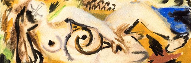 Buy original art of the German painter Ernst Wilhelm Nay (Informel) at our gallery.