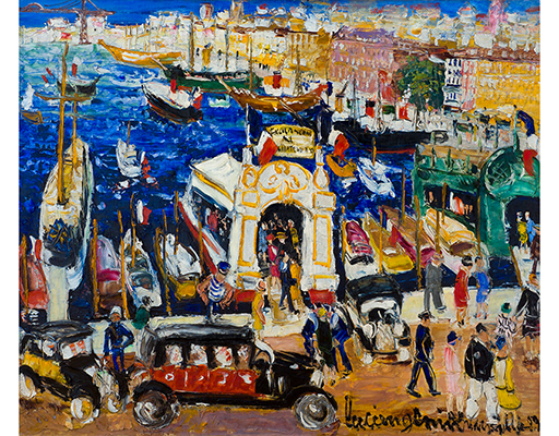 """Buy the original oil painting """"Harbour in Marseille"""" (large) by Lucien Génin (Painter, Post-Impressionism) at our gallery."""
