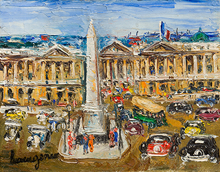 """Buy the original oil painting """"Place de la Concorde"""" (small) by Lucien Génin (Painter, Post-Impressionism) at our gallery."""