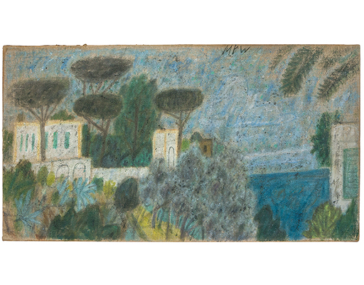 """Buy the original oil painting """"Ischia, houses near Lacco Ameno"""" (large) by Max Peiffer Watenphul (Painter, Expressionism) at our gallery."""