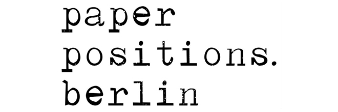 Our art gallery is exhibiting at the art fair Paper Positions Berlin (April 25 to 28, 2019).